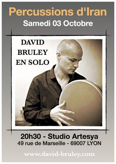 Percussions d'Iran : David BRULEY en solo à Lyon