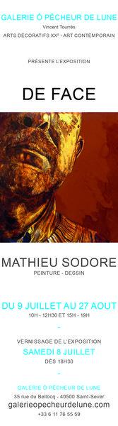 exposition DE FACE Mathieu Sodore