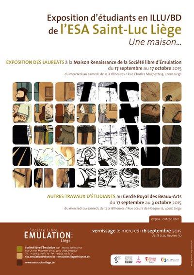 Une Maison... : exposition d'étudiants en illu/bd de l'ESA Saint-Luc Liège