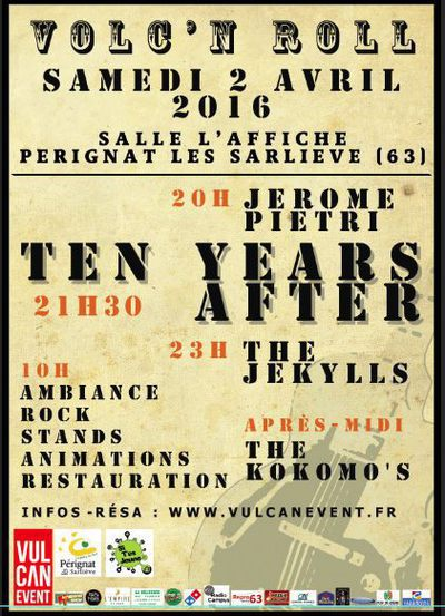The Jekylls et Ten Years After à l'affiche à Pérignat