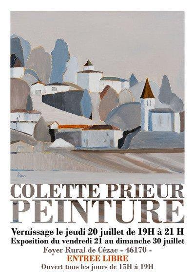 EXPOSITION DES PEINTURES DE COLETTE PRIEUR