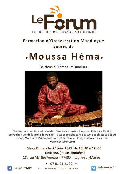 Stage de Balafon et d'orchestration mandingue avec Moussa Héma