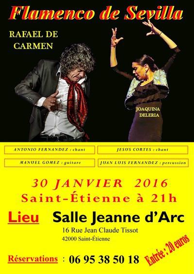 flamenco de sevilla salle jeanne d arc 224 etienne 42000 samedi 30 janvier 2016