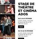 2 stages de THEATRE/CINEMA pour Ados durant les vacances de février