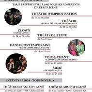 Stage été Théâtre à Arts en Scène : Corps, émotions, personnage