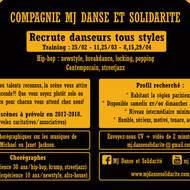 Recrutement danseurs compagnie MJ Danse et Solidarité
