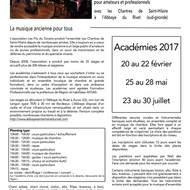 Académie de musique ancienne mai 2017