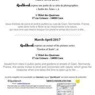 """Queldench expose sa série """"Jardin des Âmes"""",  à l'Hôtel des Quatrans !"""